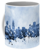 Chicago Skyline-blue 2 Coffee Mug
