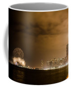 Chicago Skyline Fireworks Finale Coffee Mug by Anthony Doudt