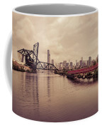 Chicago Skyline From The Southside With Red Bridge Coffee Mug