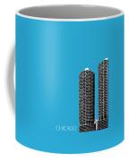 Chicago Skyline Marina Towers - Teal Coffee Mug