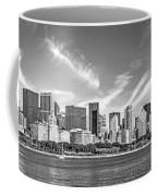 Chicago Skyline Panorama Black And White Coffee Mug