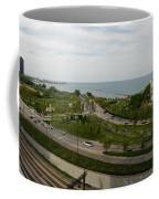 Chicago Skyline Showing Monroe Harbor Coffee Mug