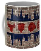 Chicago Sports Team Flag On Brick Coffee Mug