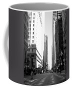 Chicago Street With Flags B-w Coffee Mug