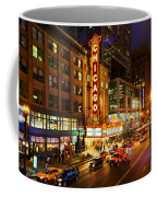 Chicago Theater At Night Coffee Mug