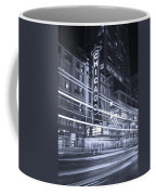 Chicago Theater Marquee B And W Coffee Mug