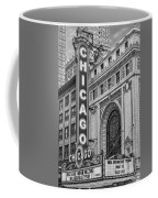Chicago Theatre Bw Coffee Mug