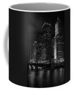 Chicago Wacker Drive Night Portrait Coffee Mug