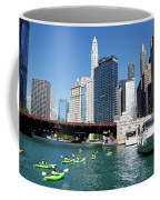 Chicago Watching The Kayaks On The River Coffee Mug