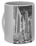 Chicago Water Tower Shopping Black And White Coffee Mug