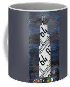 Chicago Windy City Harris Sears Tower License Plate Art Coffee Mug