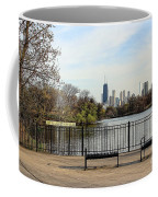 Chicago With Benches Coffee Mug