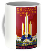 Chicago, World's Fair, Vintage Travel Poster Coffee Mug