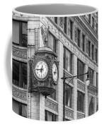 Chicago's Father Time Clock Bw Coffee Mug