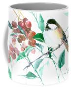 Chickadee And Berries Coffee Mug