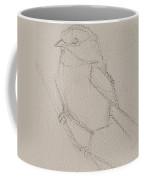Chickadee Drawing Coffee Mug by Jani Freimann