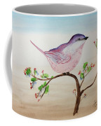 Chickadee Standing On A Branch Looking Coffee Mug