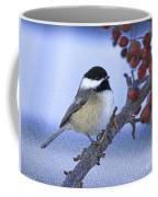 Chickadee With Craquelure Coffee Mug