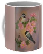 Chickadees And Roses Coffee Mug