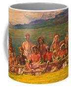 Chiefs And Performers In War Dance Fiji Coffee Mug