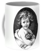 Child & Pet, 19th Century Coffee Mug