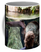 Child And Ray Fish In Paludarium Coffee Mug