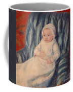 Child On A Sofa Coffee Mug by Mary Cassatt