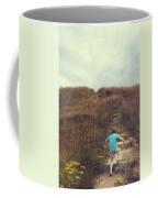 Child On Stairs On Beach Coffee Mug