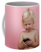 Child With Smartphone  Coffee Mug