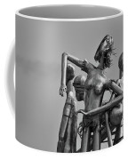 Children At Play Statue B W Coffee Mug