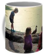 Children At The Pond 1 Coffee Mug