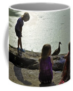 Children At The Pond 1 Version 2 Coffee Mug