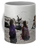 Children At The Pond 2 Coffee Mug