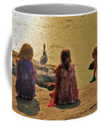 Children At The Pond 4 Coffee Mug