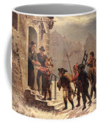 Children Collecting Fruit At The Door   Coffee Mug by Leopold Til