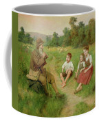 Children Listen To A Shepherd Playing A Flute Coffee Mug
