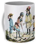 Children Playing Croquet Coffee Mug by Granger