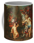 Children Playing With Flowers Coffee Mug
