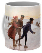 Children Skating Coffee Mug