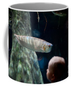 Children Watch Silver Arowana Fish Coffee Mug