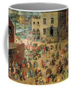 Children's Games Coffee Mug by Pieter the Elder Bruegel