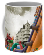 Childrens Play Areas Contrast With The Victorian Elegance Of The Grand Hotel In Llandudno Wales Uk Coffee Mug