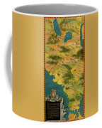 Chile And Argentina With The Magellan Strait Coffee Mug