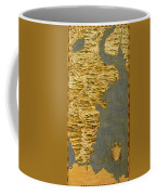 Chile And Argentina With The Strait Of Magellan Coffee Mug
