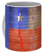 Chile Rustic Map On Wood Coffee Mug