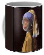 Chimp With A Pearl Earring Coffee Mug
