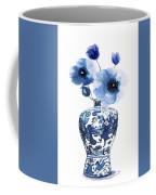 China Ming Vase With Flower Coffee Mug