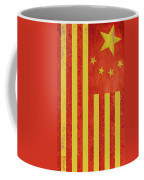 Chinese American Flag Vertical Coffee Mug