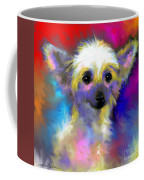 Chinese Crested Dog Puppy Painting Print Coffee Mug