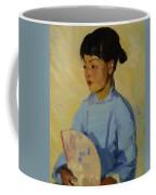 Chinese Girl With Fan 1914  Coffee Mug